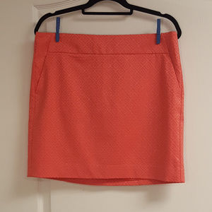 Anne Taylor Coral Textured Skirt NWT